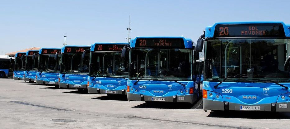 Accidentes de tráfico en los autobuses
