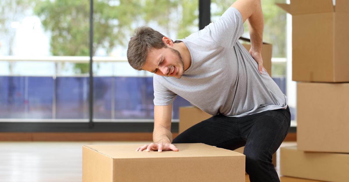 Lesiones por trabajar cargando con un peso excesivo