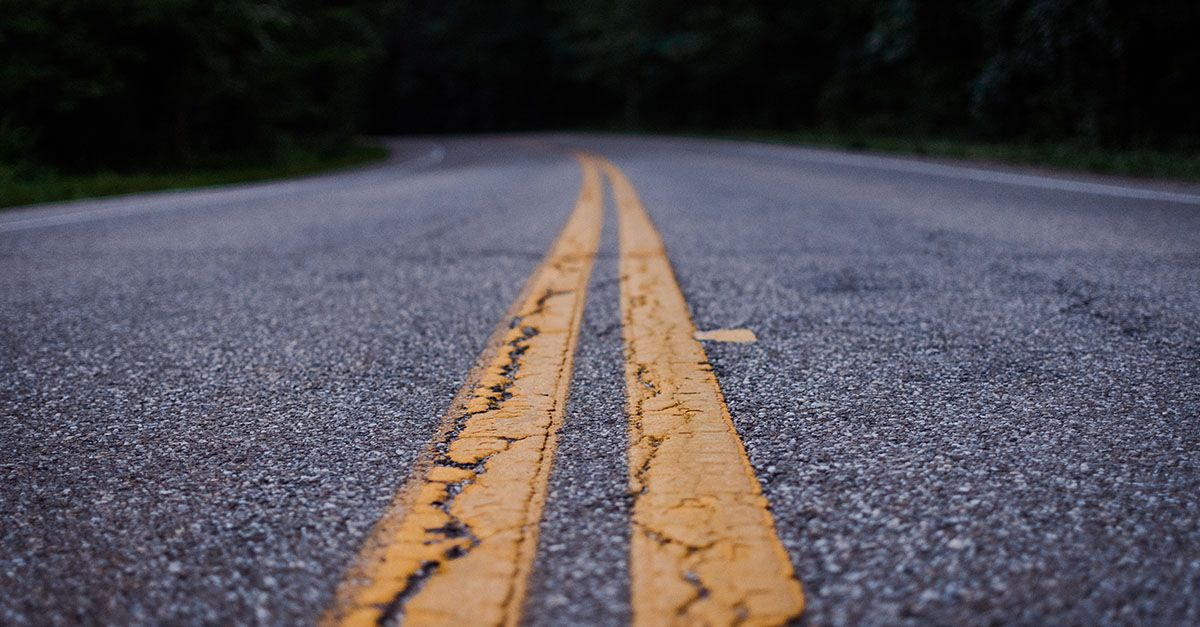 Accidente de coche por salida de vía