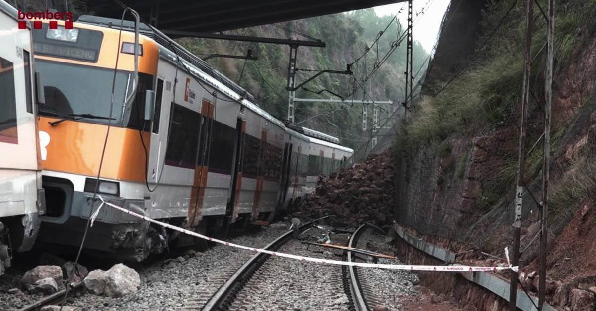 Accidente en tren de Rodalies