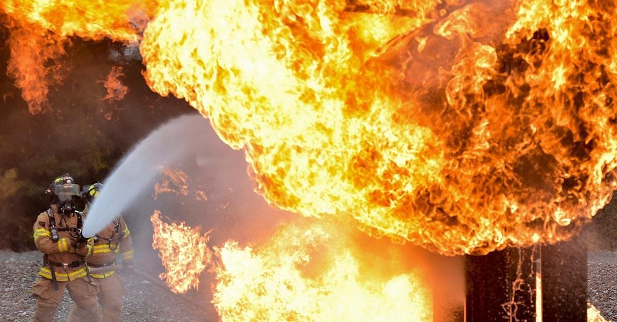 Sufrir quemaduras por incendio