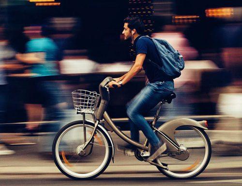 Accidente de bicicleta y peatón