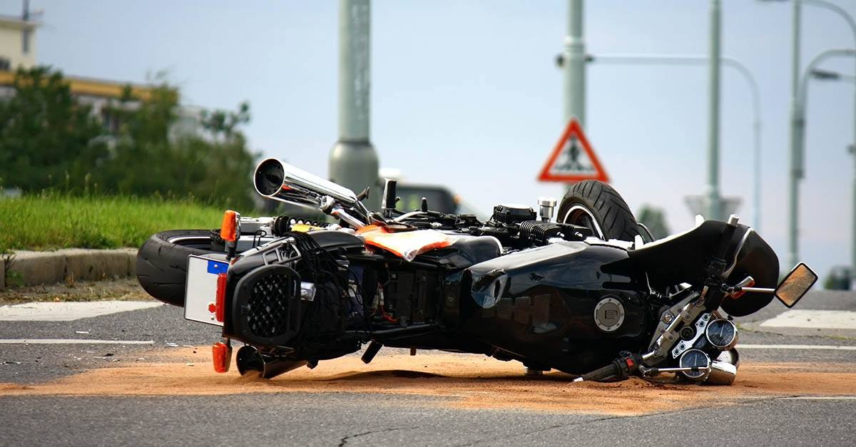 Reclamación por accidente de moto